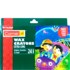 Camlin Wax Crayons Extra Long Pack of 24 Nos 1 Pc