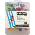Chrome push pin 1 Pack 1 pc
