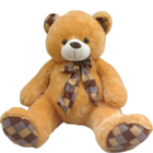 Dimpy Big Teddy Bear With Printed Bow 65 Cm Sitting 1 pc