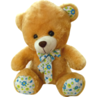 Dimpy Sitting Bear 36 Cms With Polka And Satin Bow 1 pc