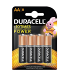 Duracell AA Alkaline Battery 8 Pcs