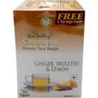 Eco Valley Organic Ginger Mulethi & Lemon Tea Bags 25 Nos