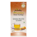 Eco Valley Organic Ginger Mulethi & Lemon Tea Bags 50 Nos