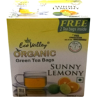 Eco Valley Organic Green Tea Bags Sunny Lemony Flavour 10 Nos