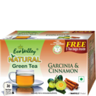 Eco Valley Organic Natural Green Tea Garcinia Cinnamon 25 pcs