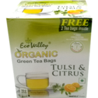 Eco Valley Organic Green Tea Tulsi & Citrus Tea Bags 25 Nos