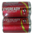 Eveready Red Heavy Duty D2 1050 Batteries 2 Pc