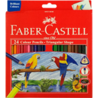 Faber Castell 24 Tri-Colour Pencils 118024 1 pc
