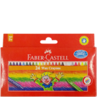 Faber Castell 24 Wax Crayons 75mm 120051 1 pc