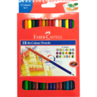 Faber Castell Bi Colour Pencil Pack Of 18 Nos 1 Pc
