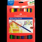 Faber Castell Bi Colour Pencil Pack Of 18 Nos 1 Pc