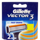 Gillette Vector 3 Shaving Cartridges 2 Cartridge