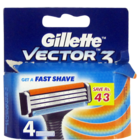 Gillette Vector 3 Shaving Cartridges 4 Cartridge