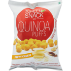 Green Snack Co Quinoa Puffs Peppy Cheese 50 g