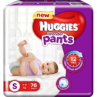 Huggies Wonder Pants Small 4-8 Kg 76 pcs