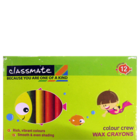 ITC Classmate Colour Crew Wax Crayons-Regular 12 Shades 60 mm 1 pc