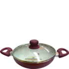 Jagdamba Caldera Wok With Glass Lid 24 cm 1 Pc