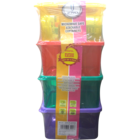 Joyo Colored Plain Container Pack of 4 Nos 1 Pc