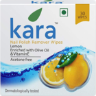 Kara Nail Polish Remover Wipes Lemon 30 pcs