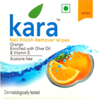 Kara Nail Polish Remover Wipes Orange 30 pcs