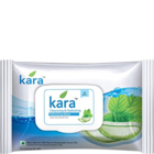Kara Refreshing Facial Wipes With Aloe Vera & Mint Oil 30 Nos