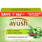 Lever Ayush Cool and Fresh Aloe Vera Soap 4x100 g