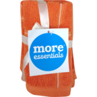 More Essential 100% Cotton Face Towel 500 Orange  30 x 30 cm Pack of 3 Nos 1 pc