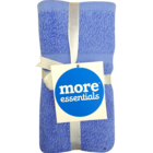 More Essential 100% Cotton Hand Towel 350 Blue 40 x 60 cm Pack of 2 Nos 1 pc