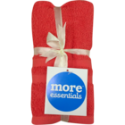 More Essential 100% Cotton Hand Towel 350 Coral 40 x 60 cm Pack of 2 Nos 1 pc