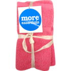 More Essential 100% Cotton Hand Towel 350 Pink 40 x 60 cm Pack of 2 Nos 1 pc