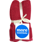 More Essential 100% Cotton Hand Towel 350 Red 40 x 60 cm Pack of 2 Nos 1 pc