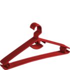 More Essentials Elegant Hanger Set Of 6 Plastic Red 1 pc