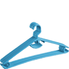 More Essentials Value Hangers Set Of 6 Plastic Blue 1 pc