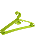 More Essentials Value Hangers Set Of 6 Plastic Green 1 pc