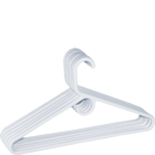 More Essentials Value Hangers Set Of 6 Plastic White 1 pc
