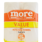 More Quality 1st Kitchen Tissue 2 Ply 22.5cm X22 cm 120 Pulls