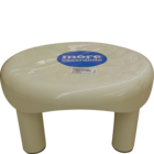 More Quality 1st More Essentials Beige Bath Stool Big 1 pc