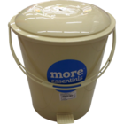 More Quality 1st More Essentials Beige Pedal Bin Big 1 pc