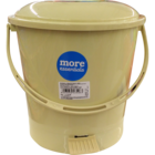 More Quality 1st More Essentials Beige Pedal Bin Small 1 pc