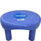 More Quality 1st More Essentials Blue Bath Stool Small 1 pc
