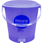 More Quality 1st More Essentials Blue Pedal Bin Big 1 pc