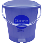 More Quality 1st More Essentials Blue Pedal Bin Small 1 pc