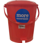 More Quality 1st More Essentials Red Pedal Bin Big 1 pc