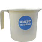More Quality 1st More Essentials White Bath Mug 1 l