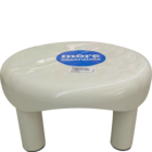 More Quality 1st More Essentials White Bath Stool Small 1 pc