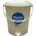 More Quality 1st More Essentials White Pedal Bin Big 1 pc