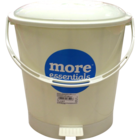 More Quality 1st More Essentials White Pedal Bin Small 1 pc