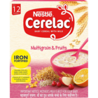 Nestle Cerelac Multi Grain 5 Fruit 4 Stage Infant Cerel 300 g