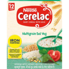 Nestle Cerelac Fortified Baby Meal With Milk Multi Grain Dal Veg 4 Stage 300 g
