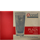 Ocean Plaza Tumbler Glass set of 6 Nos 320 ml